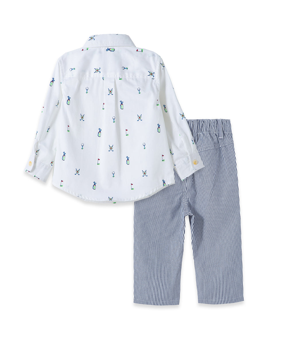 Golf Woven Toddler Pant Set