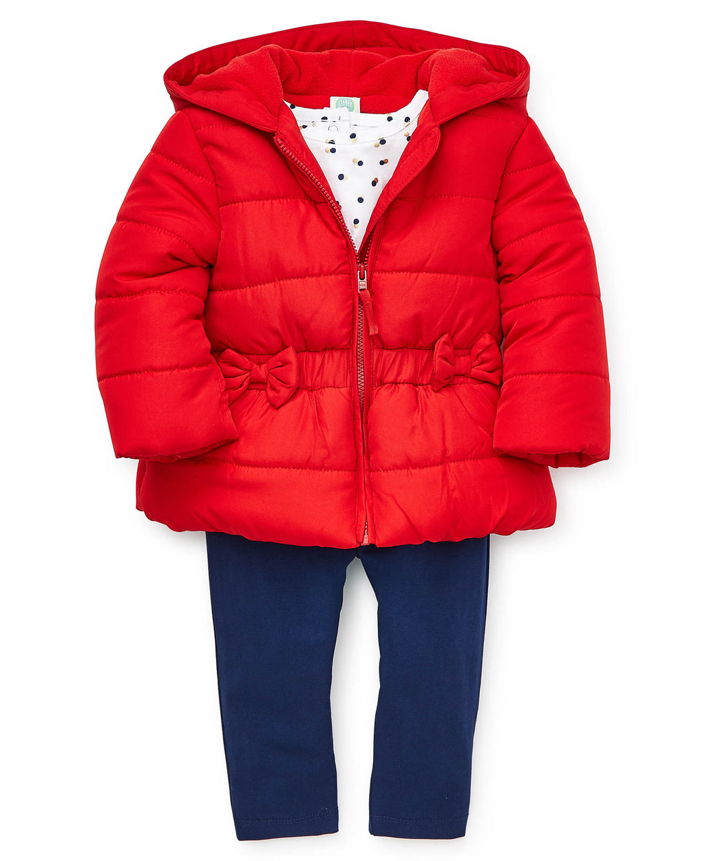 Red Puff Jacket Set
