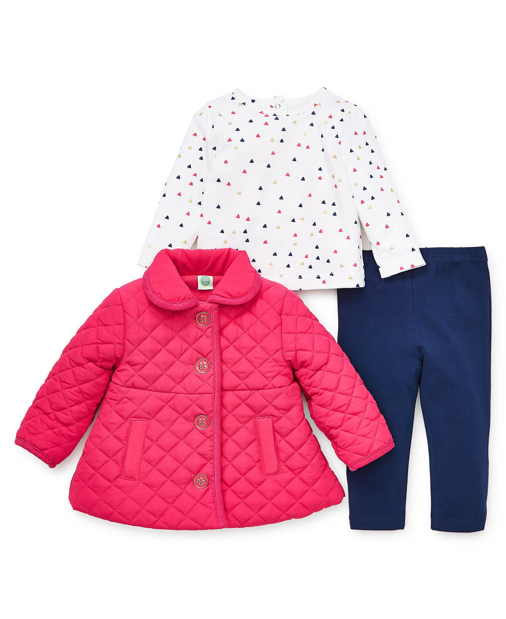 Pink Quilted  Jacket Set
