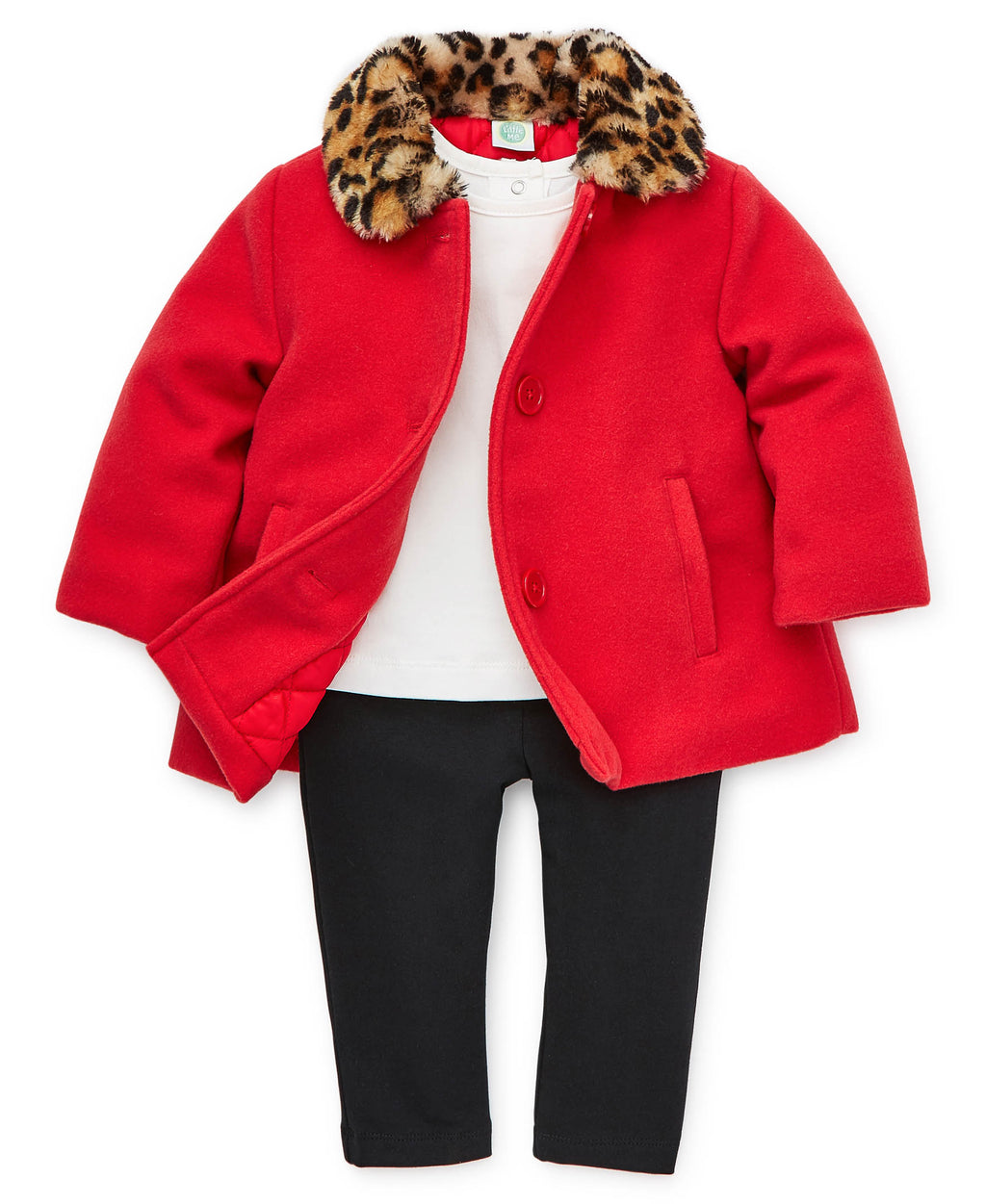 Red Wool Jacket Set