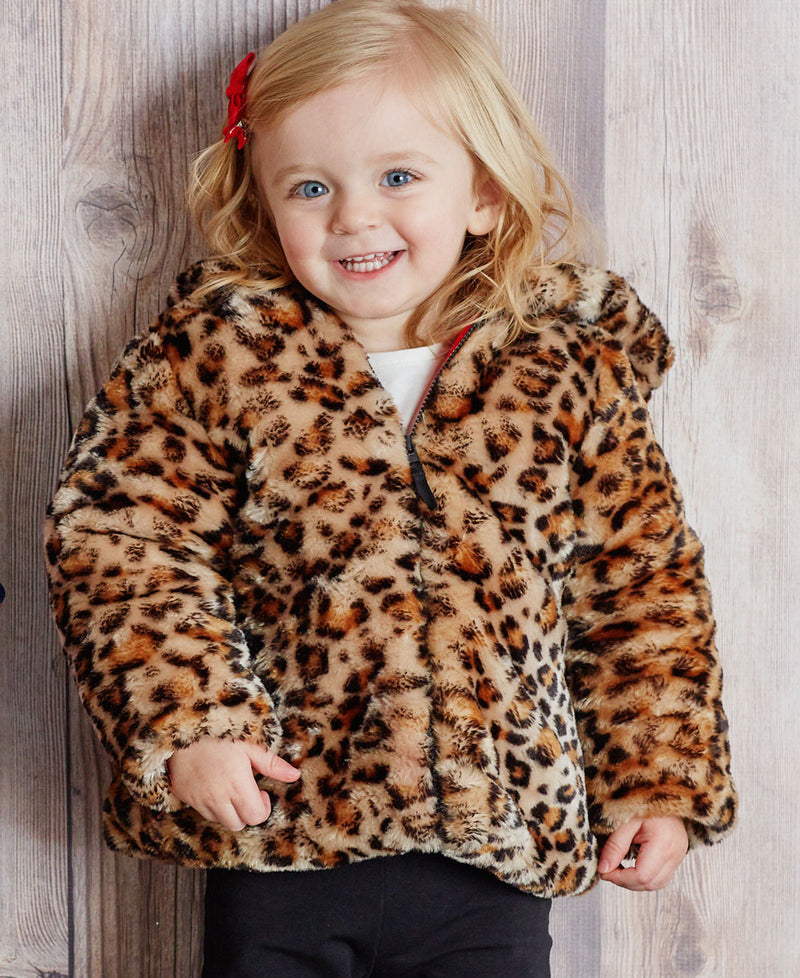 Leopard Fur Jacket Set