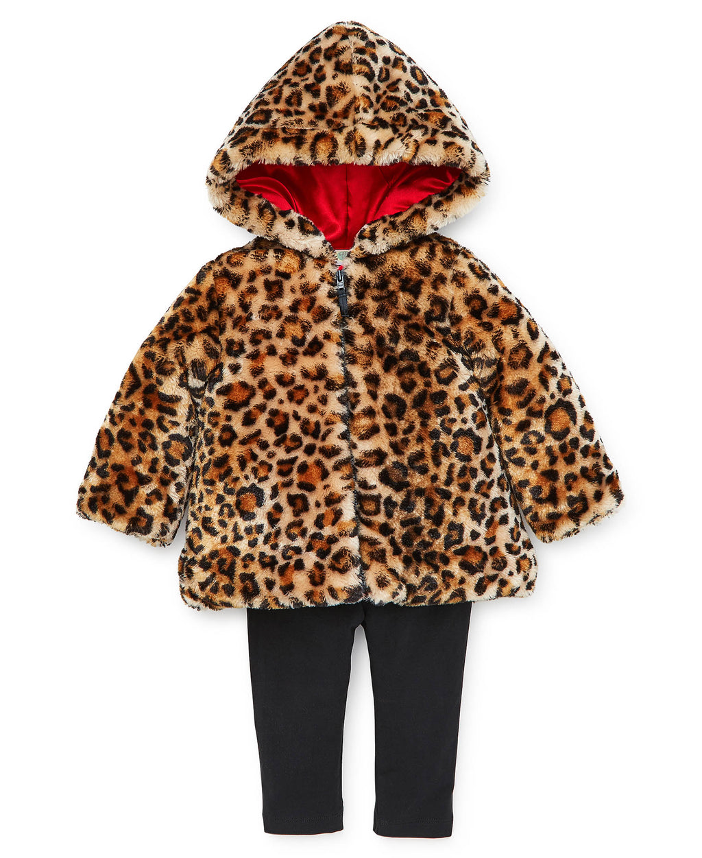 Leopard Fur Toddler Jacket Set