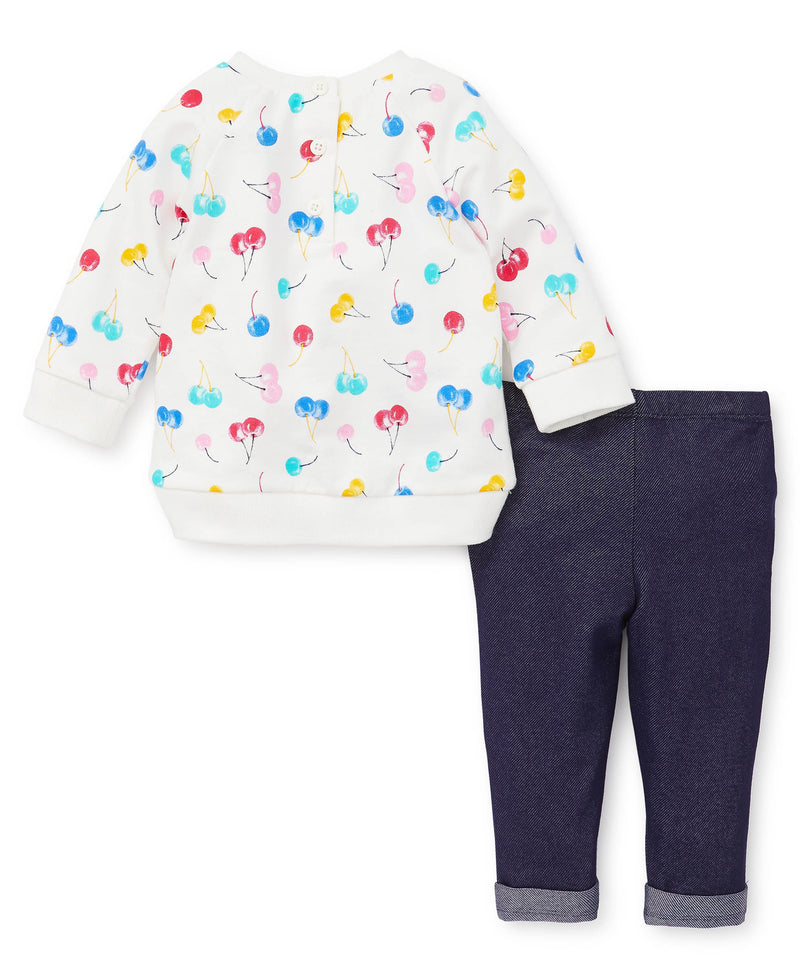 Cherries Sweatshirt and Pants - Little Me