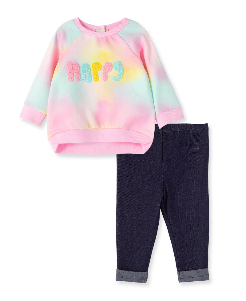 Happy Sweatshirt Set