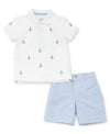 Sailboat Polo Toddler Short Set - Little Me
