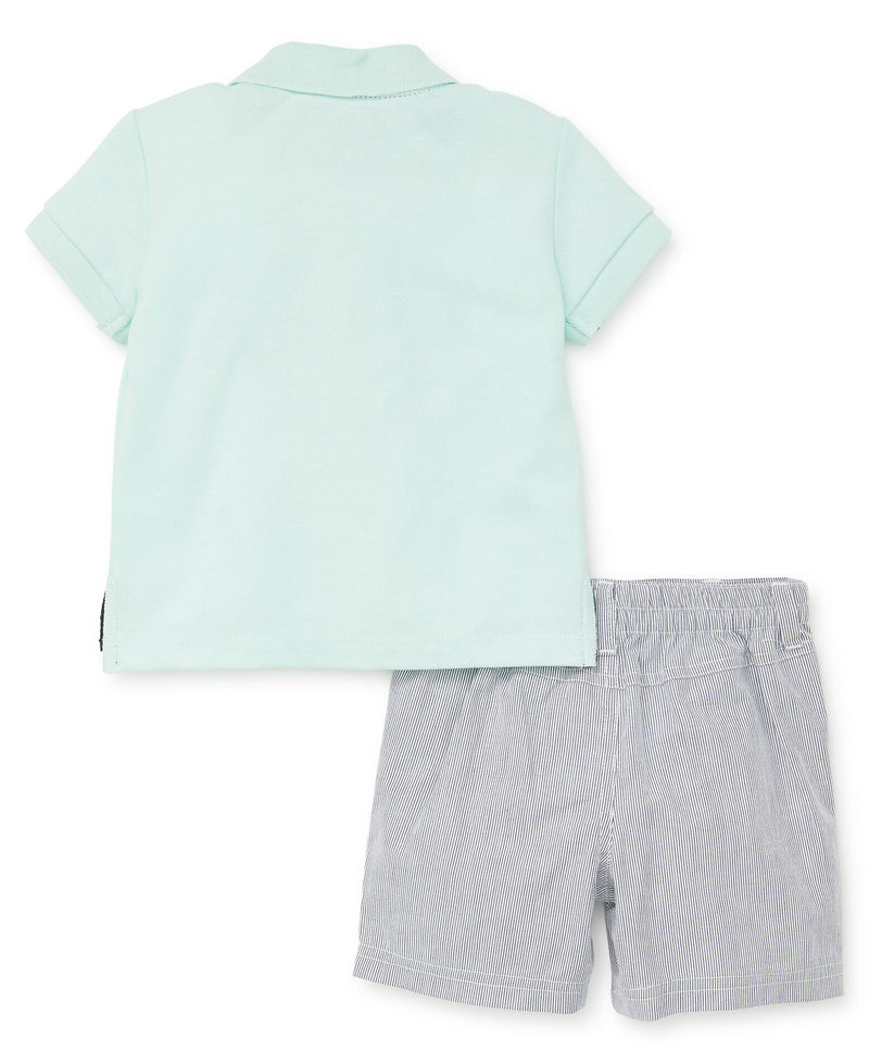 Palm Tree Polo Toddler Short Set - Little Me