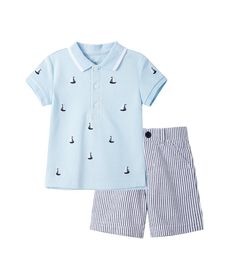 Sailboat Polo Short Set