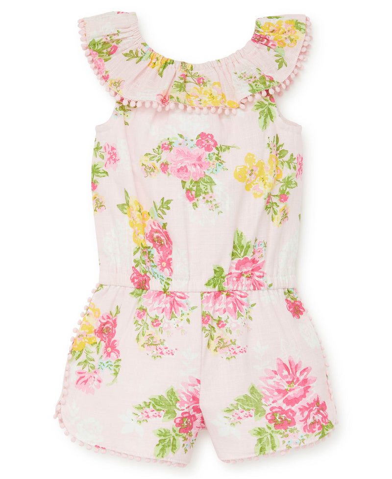 Floral Toddler Woven Romper - Little Me