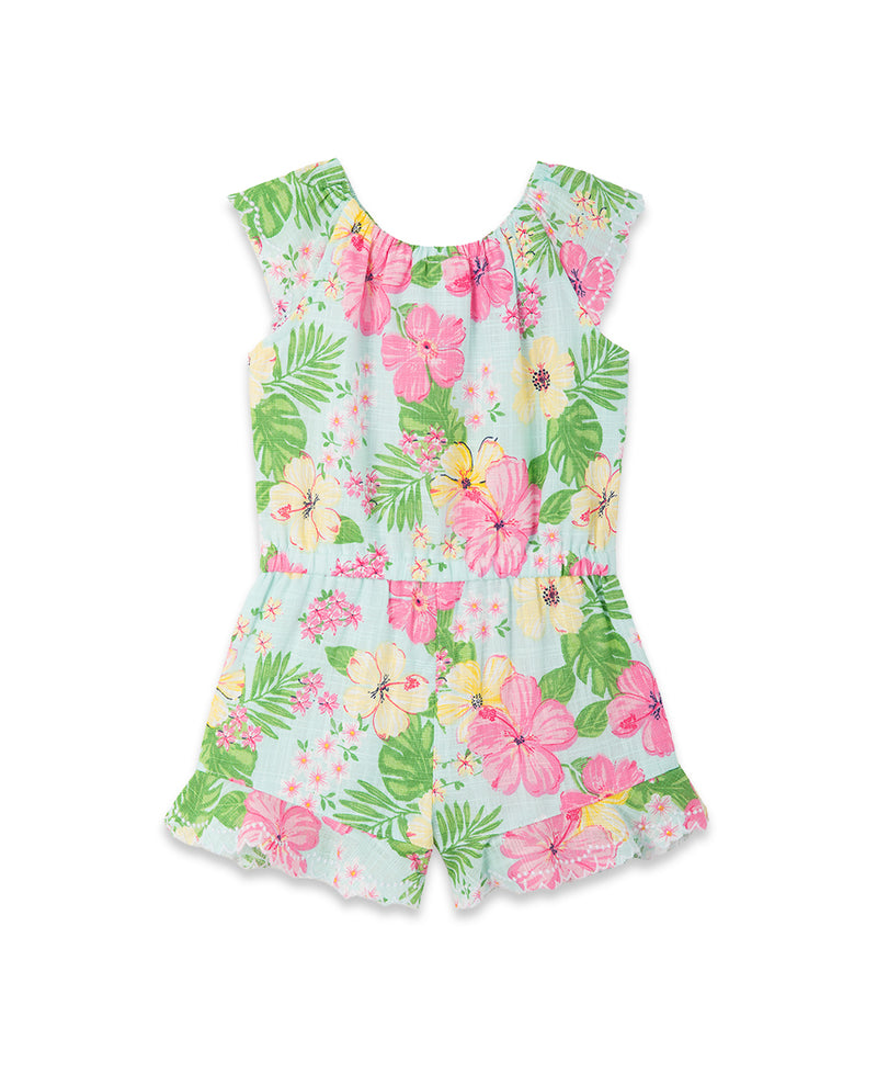 Tropical Woven Toddler Romper
