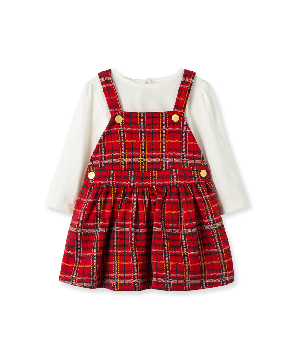 Plaid Toddler Jumper Set
