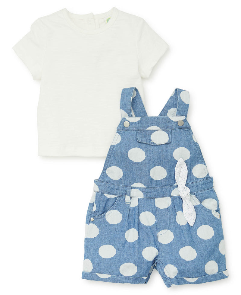 Polka Dot Shortall Set