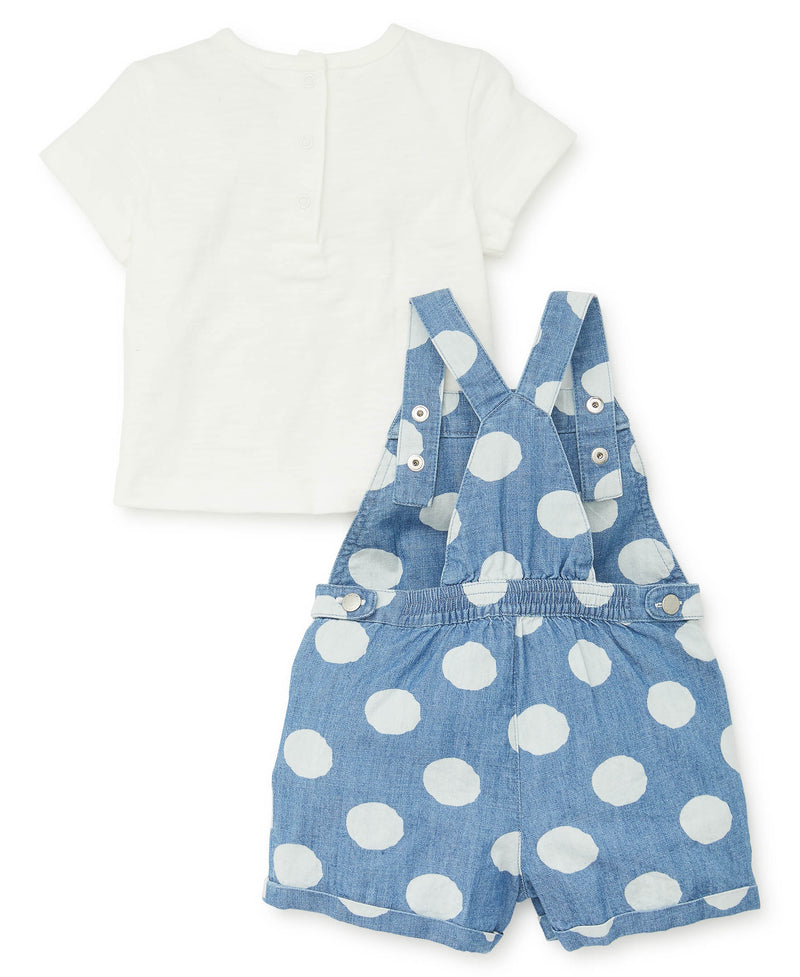 Polka Dot Toddler Shortall Set