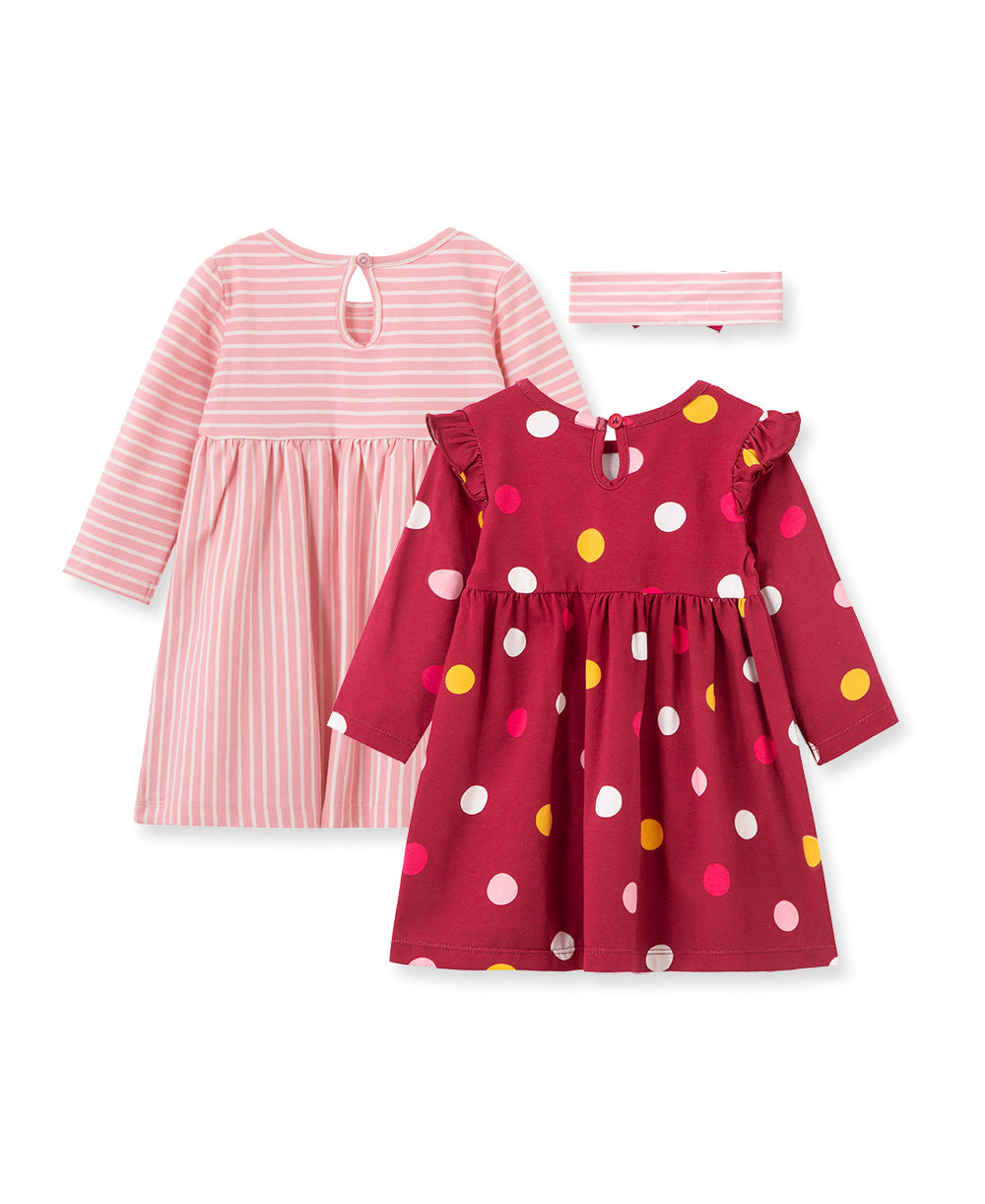 Polka Dot 2-Pack Toddler Dress Set