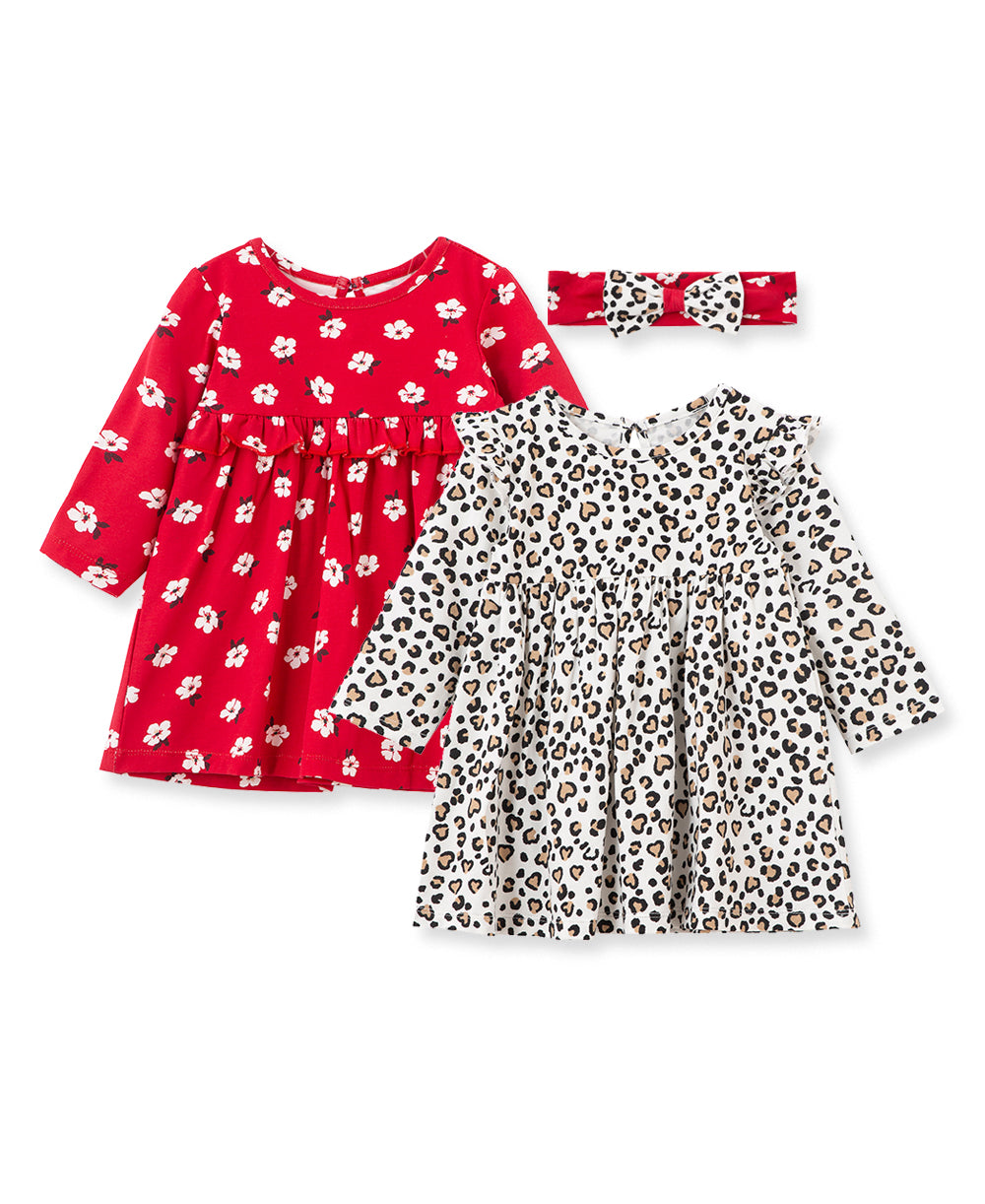 Leopard 2-Pack Toddler Dress Set