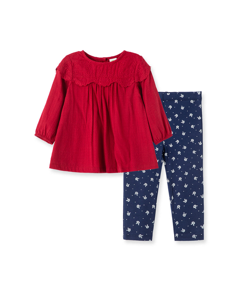 Eyelet Woven Toddler Tunic Set