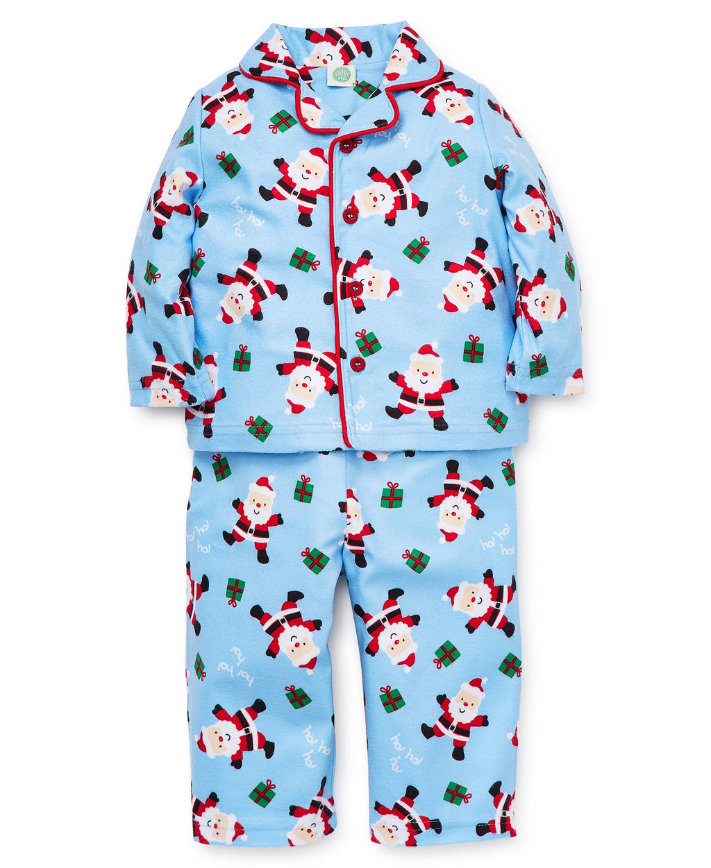 Blue Holiday Pajama Set