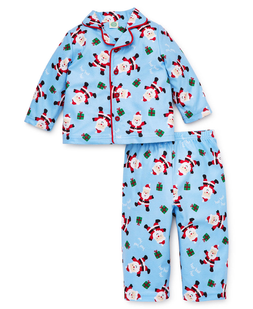Blue Holiday Toddler Pajama Set