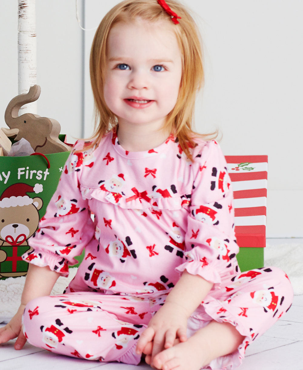 Pink Holiday Pajama Set