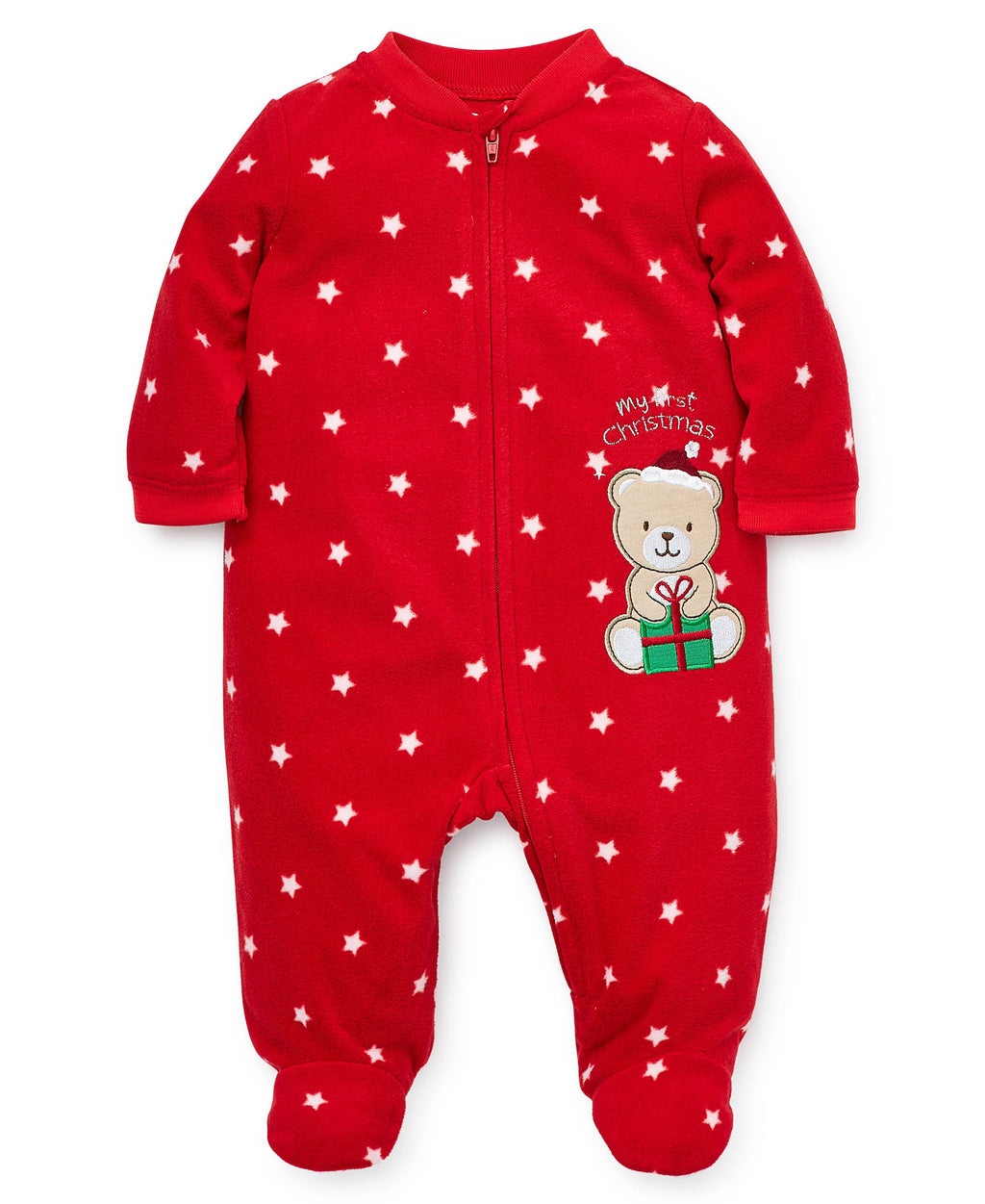 Holiday Bear Fleece Footie