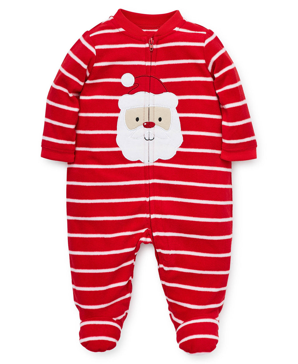 Holiday Santa Fleece Footie