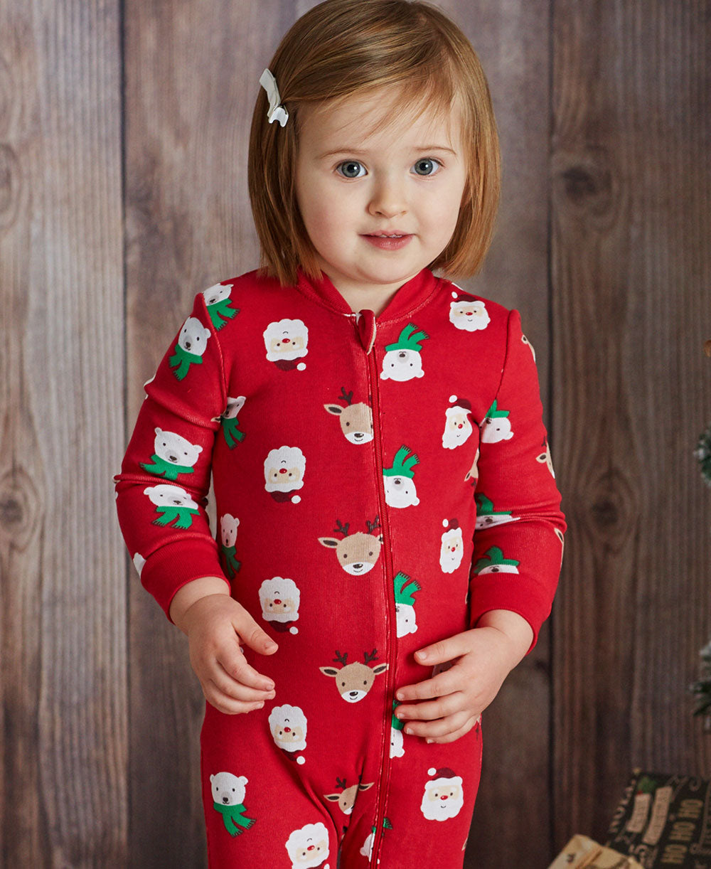 Holiday Friends Zip Up Pajama