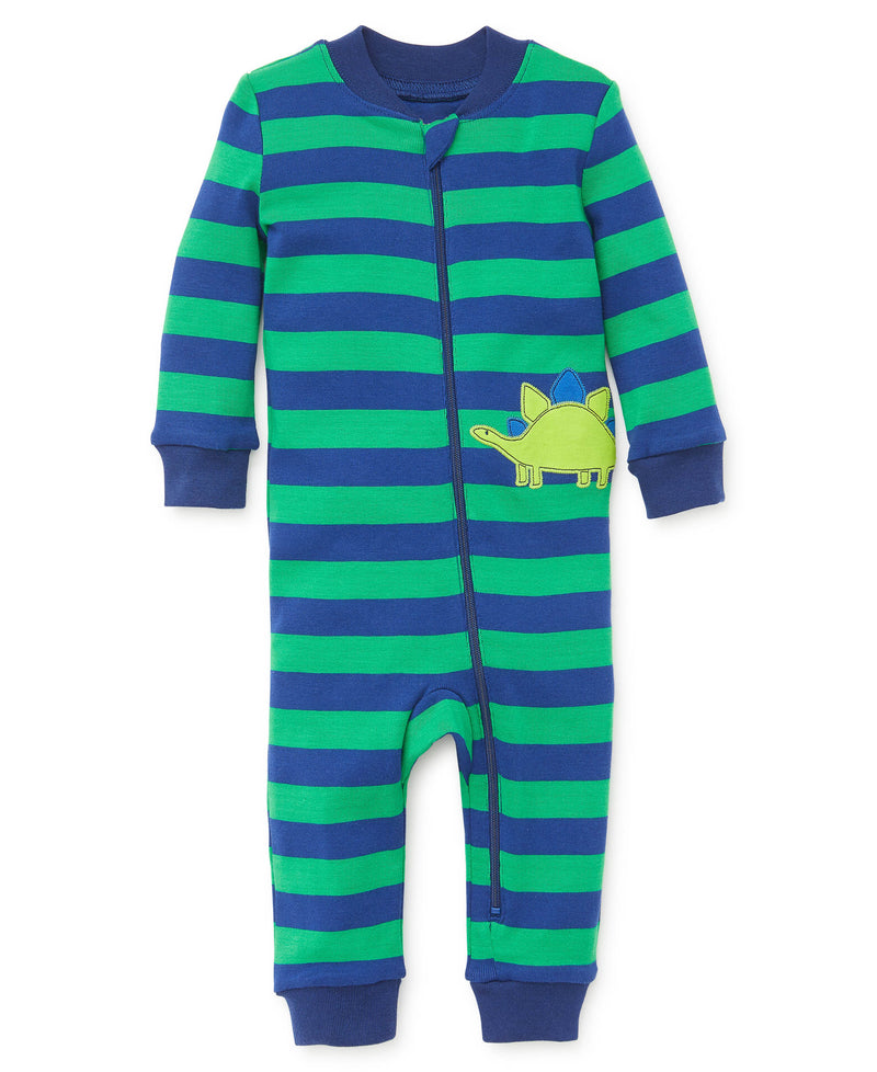 Dino Zip Front Pajama - Little Me