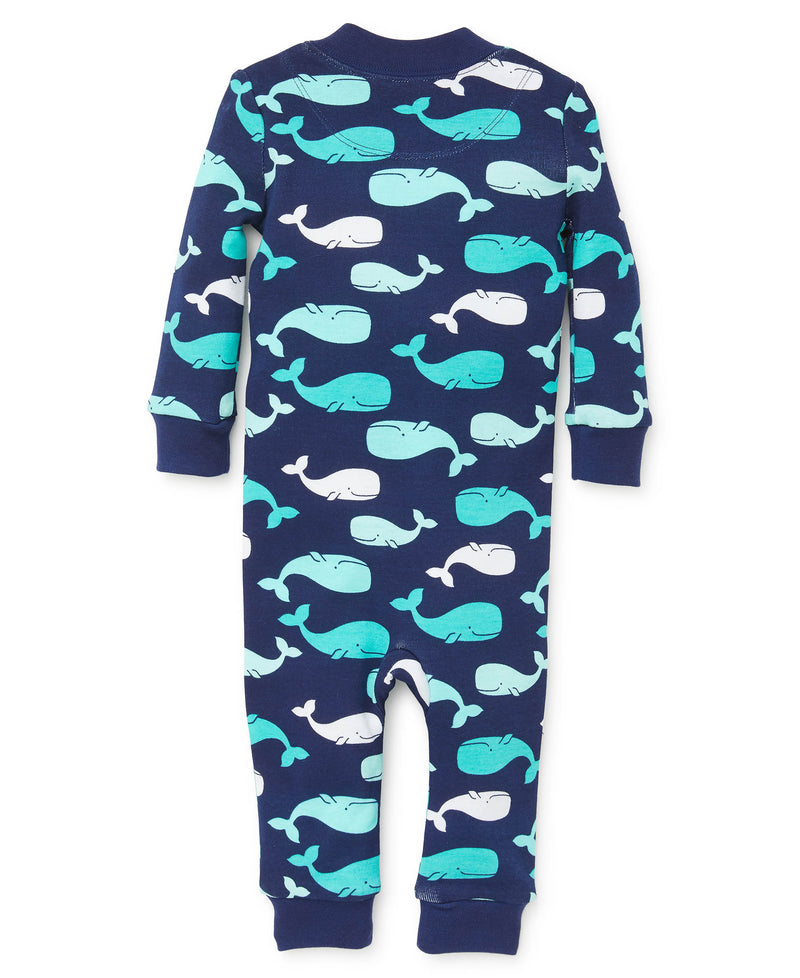 Whale Zip Front Pajama - Little Me