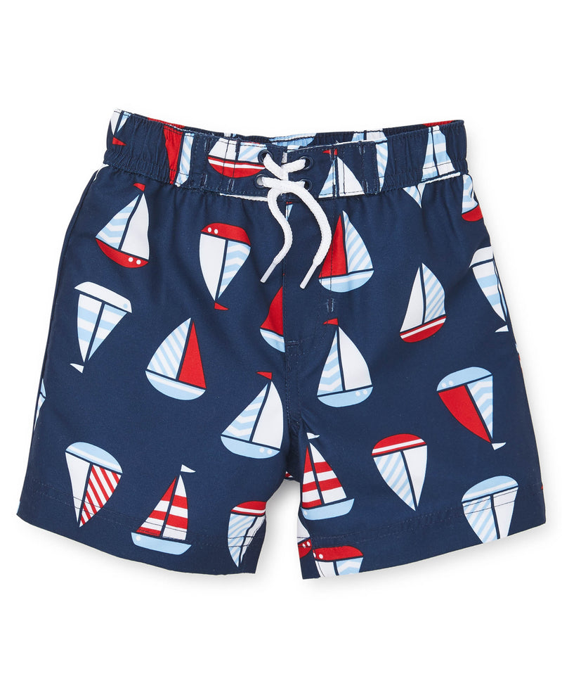 Sailboats Swim Trunks - Little Me