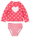 Heart Rashguard Set - Little Me