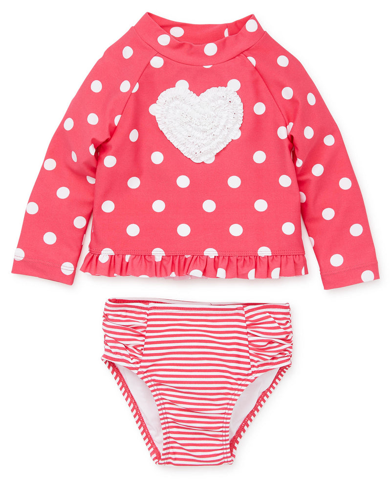 Heart Toddler Rashguard Set - Little Me