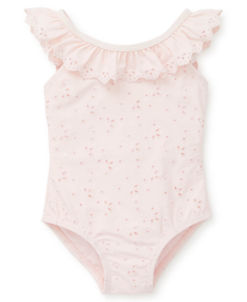 Pink Eyelet Swimsuit - Little Me