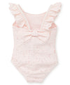 Pink Eyelet Toddler Swimsuit - Little Me