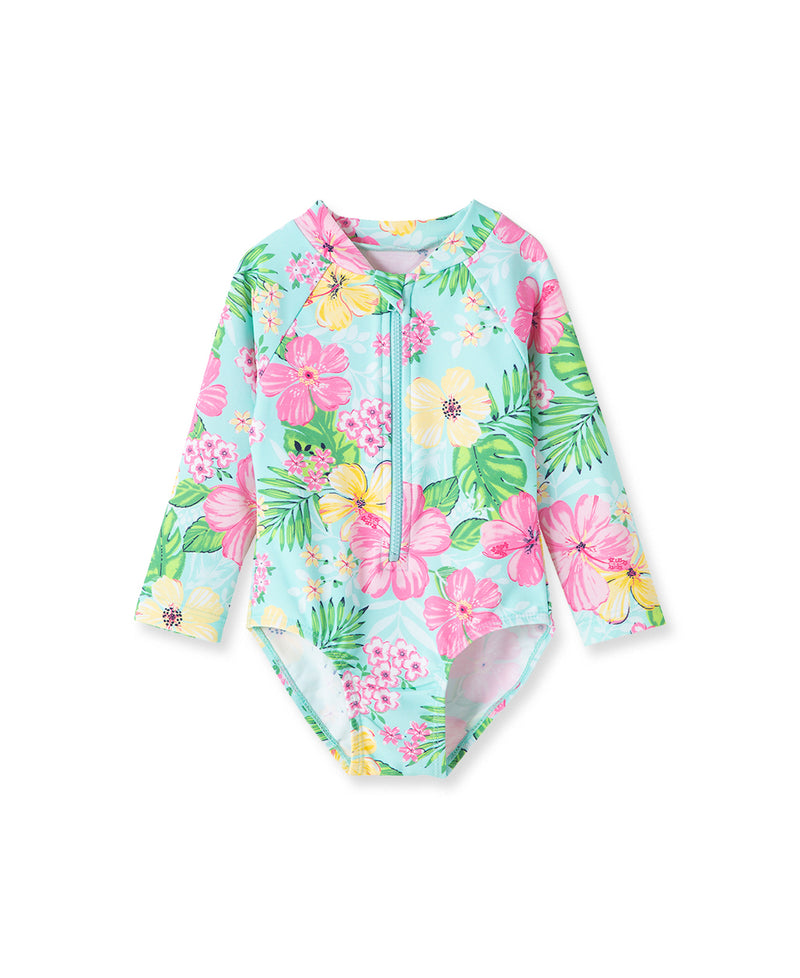 Tropical Rashguard Swimsuit