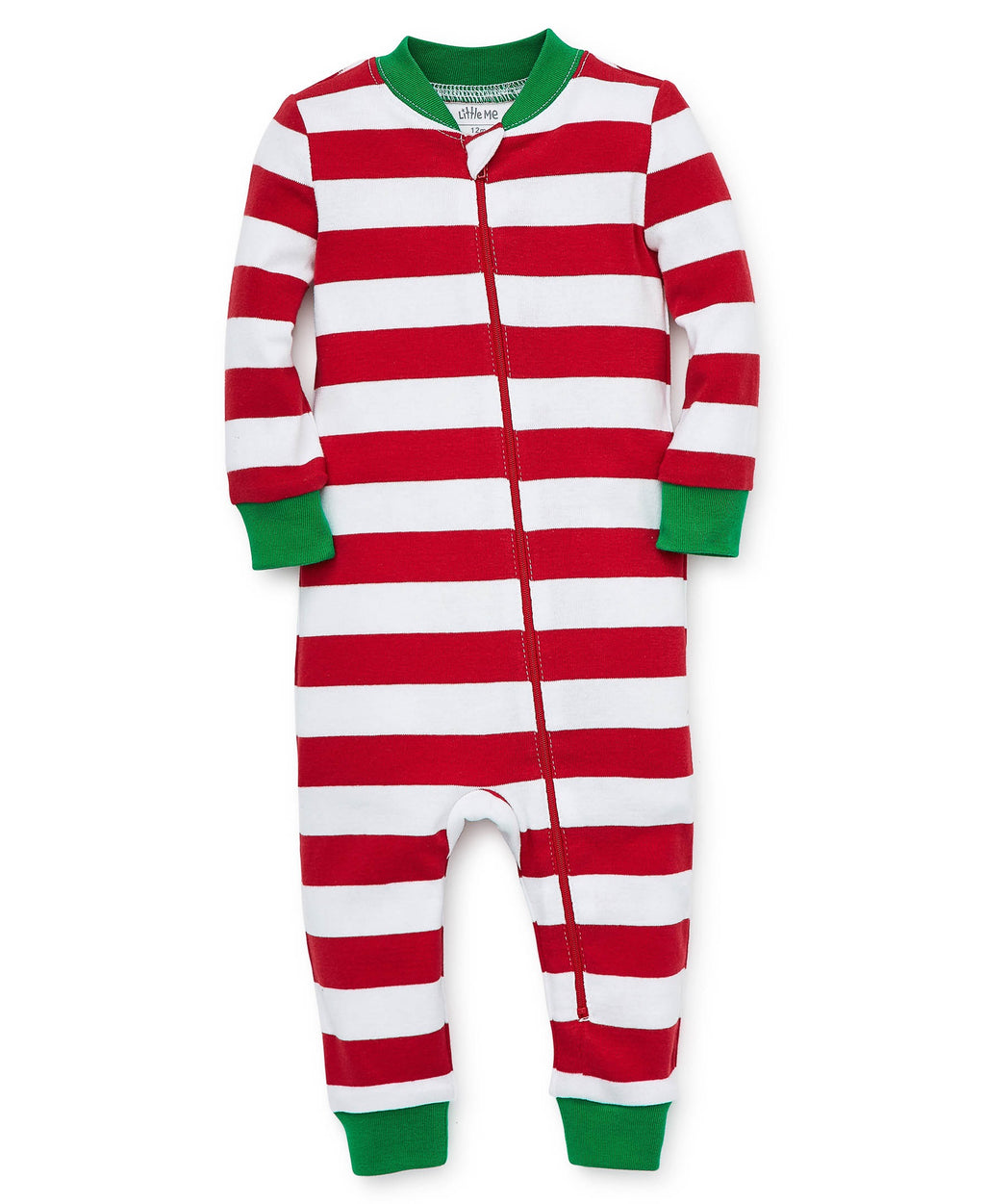Red Stripe Zip Up Pajama