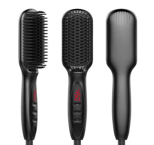Hair Straightener LCD Display Ceramic Electric Hair Styler Styling Tool comb