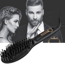 Load image into Gallery viewer, Ionic Beard Straightener Comb Hair Straightening Brush Mini Size for Travel