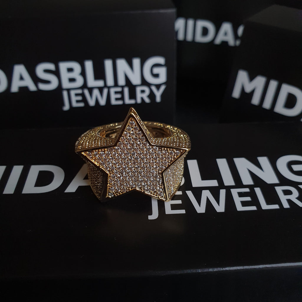 Diamond Star Ring - Gold/White Gold