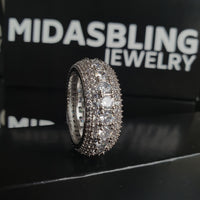 5 Row Diamond Ring - Gold/White Gold