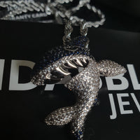 Shark Pendant - White Gold