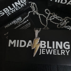 Lightning Bolt Pendant - Gold/White Gold/Two Tone