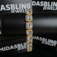 10mm Tennis Bracelet - Gold/White Gold