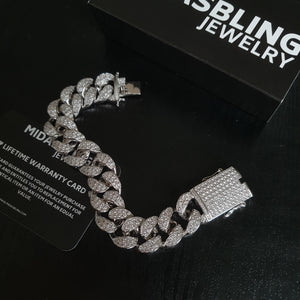 20mm Cuban Bracelet - Gold/White Gold