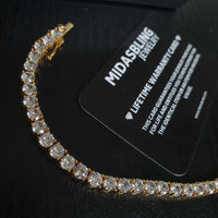 5mm Tennis Bracelet - Gold/White Gold
