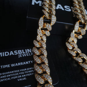 20mm Cuban Chain - Gold/White Gold