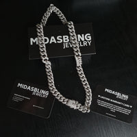 12mm Cuban Chain - Gold/White Gold