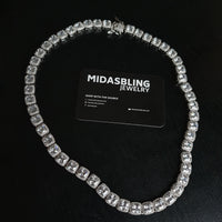 10mm Tennis Chain - Gold/White Gold
