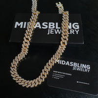 12mm Prong Chain - Gold/White Gold