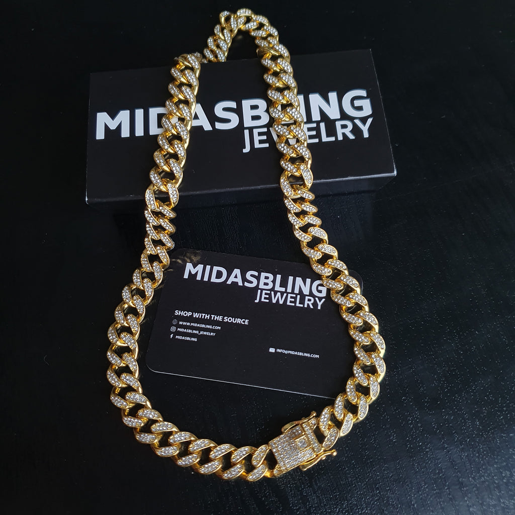 13mm Cuban Chain - Gold