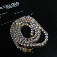 5mm Tennis Chain - Gold/White Gold