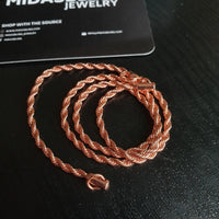 Rope Chain - Gold, Rose Gold, White Gold